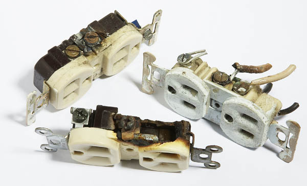 heat damaged electrical outlets